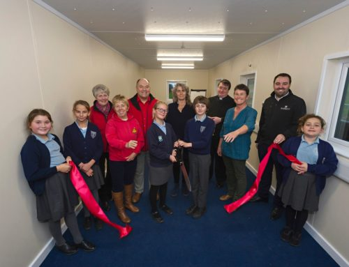 Community gather for school cabin opening in Swanage